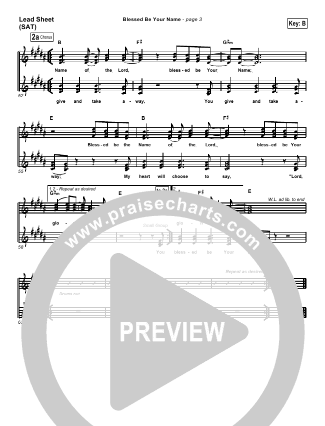 Blessed Be Your Name Orchestration & Finale (Matt Redman)