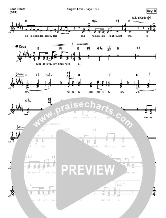 King Of Love Lead Sheet (SAT) (I Am They)