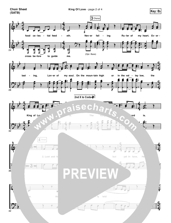King Of Love Choir Sheet (SATB) (I Am They)