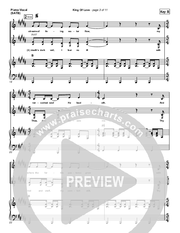 King Of Love Piano/Vocal (SATB) (I Am They)