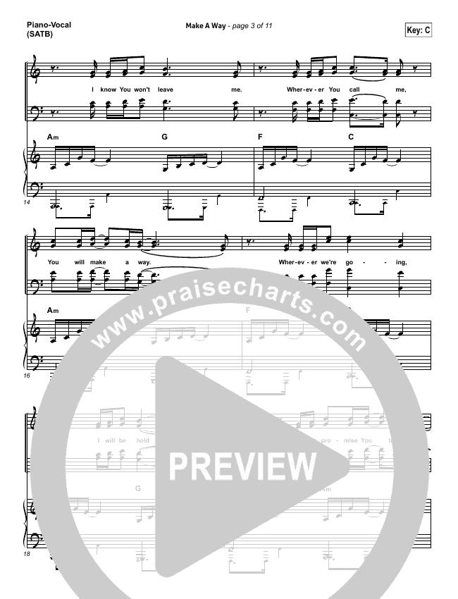 Make A Way Piano/Vocal (SATB) (I Am They)