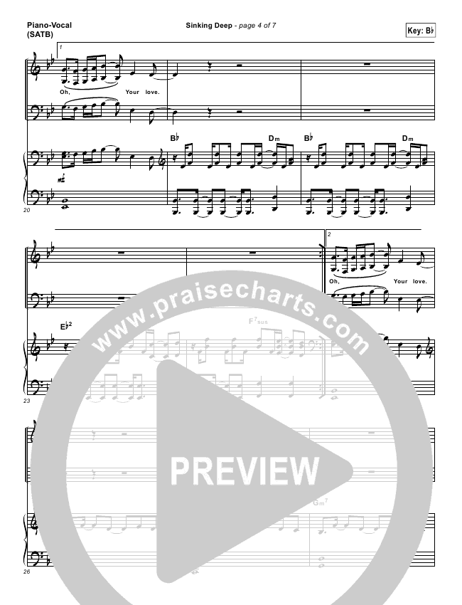 Sinking Deep Hillsong Piano Sheet Music - Image Sink and Toaster ...