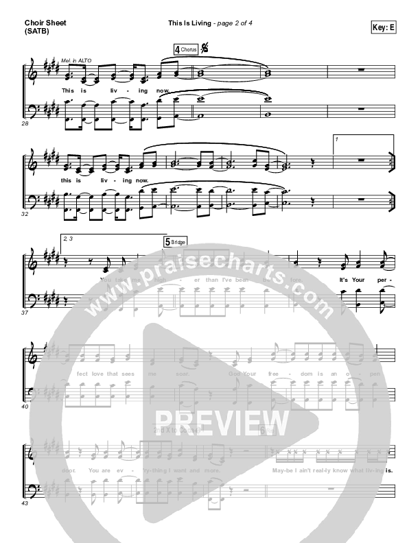 This Is Living  Choir Sheet (SATB) (Hillsong Young & Free)