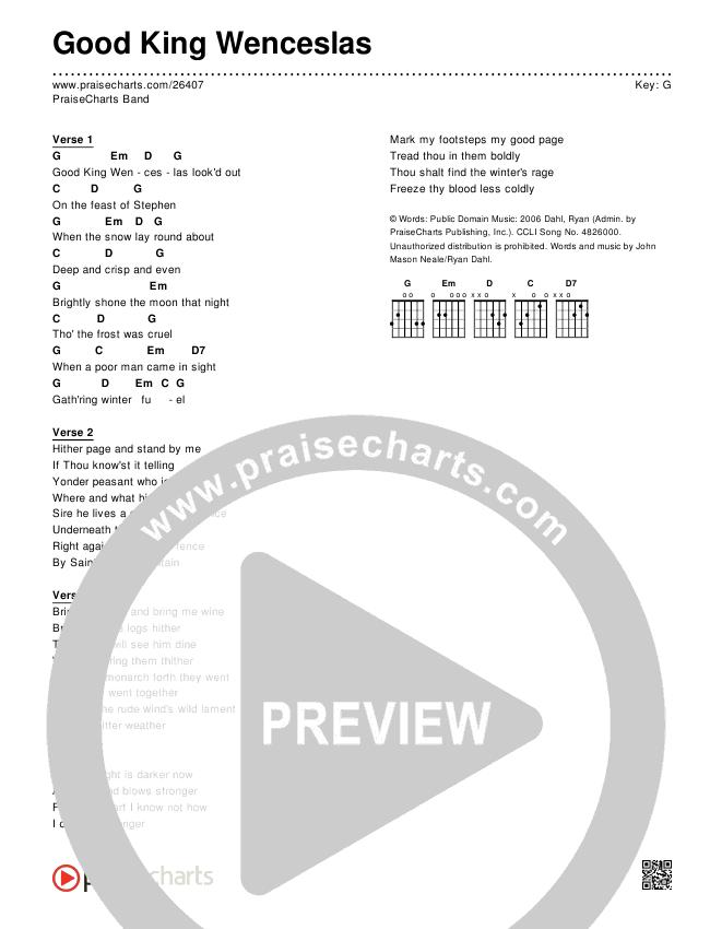 Good King Wenceslas Chords Praisecharts Band Praisecharts