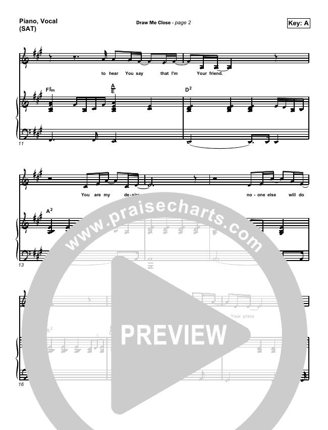 Draw Me Close Piano/Vocal (SATB) (Andy Park)