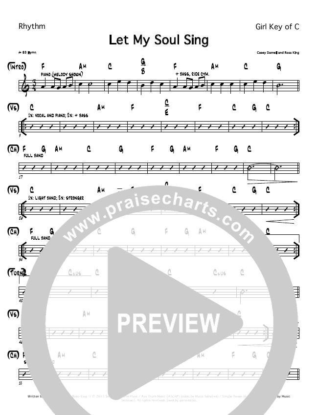 Let My Soul Sing Rhythm Chart (Casey Darnell / North Point Worship)