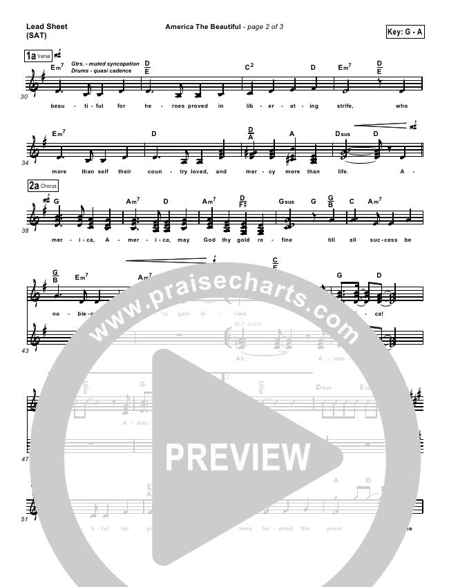 America The Beautiful Orchestration & Finale (PraiseCharts Band)