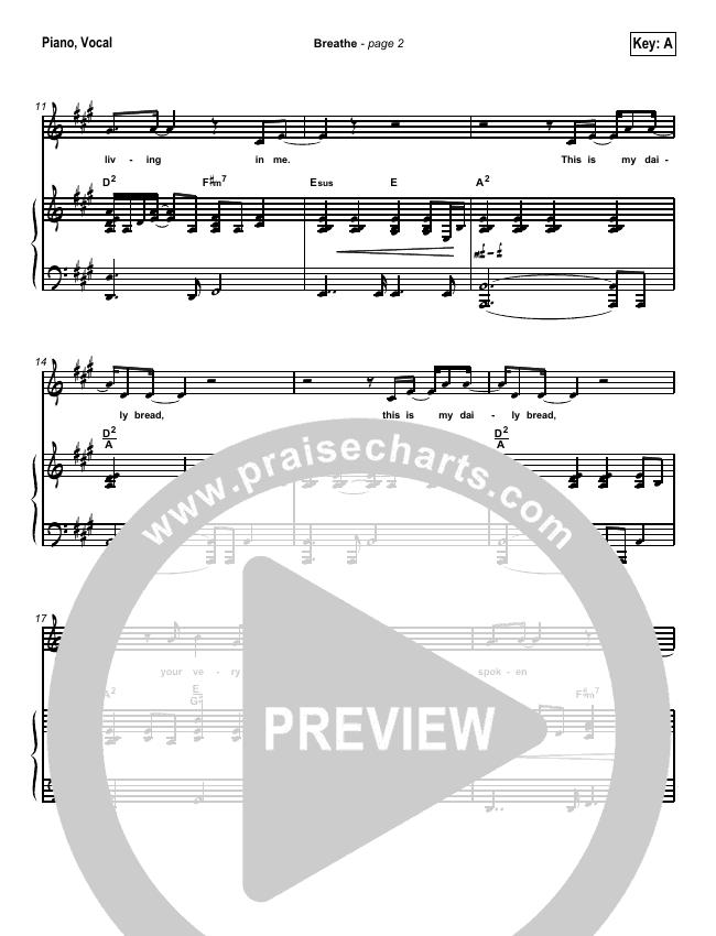 Breathe / Yearn Piano/Vocal (SATB) (Kathryn Scott)