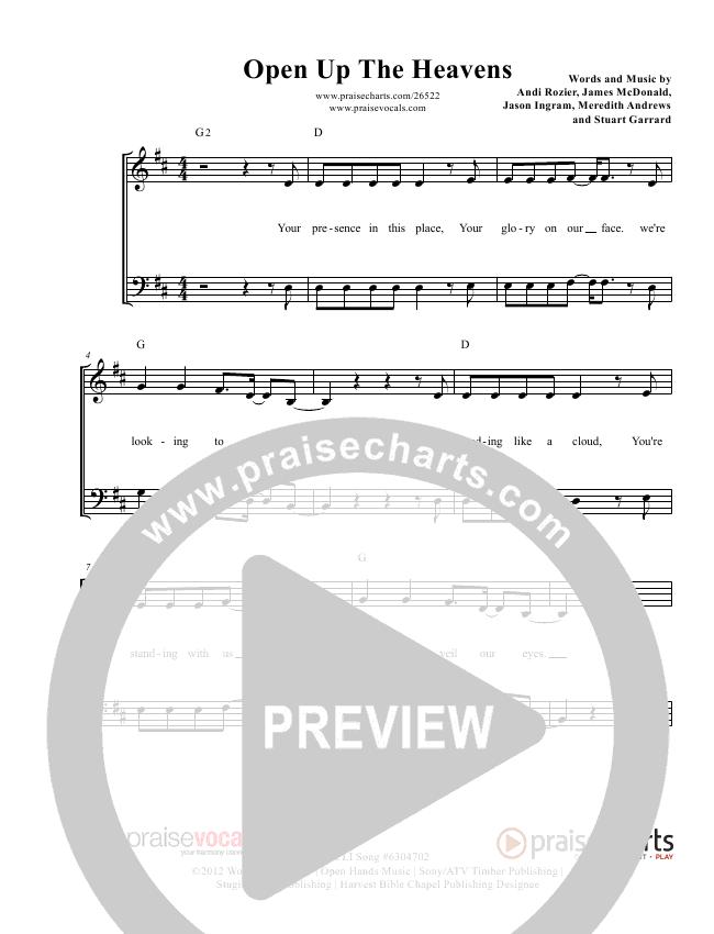 Open Up The Heavens Lead Sheet (PraiseVocals)