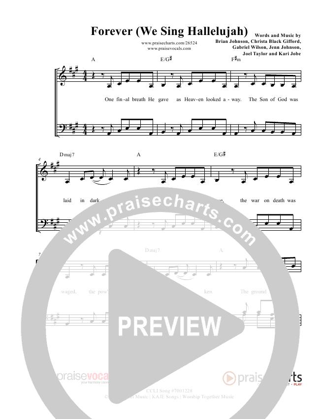Forever Lead Sheet (PraiseVocals)