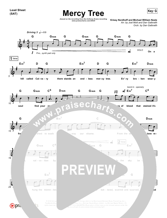 Mercy Tree Orchestration & Finale (Anthony Evans)
