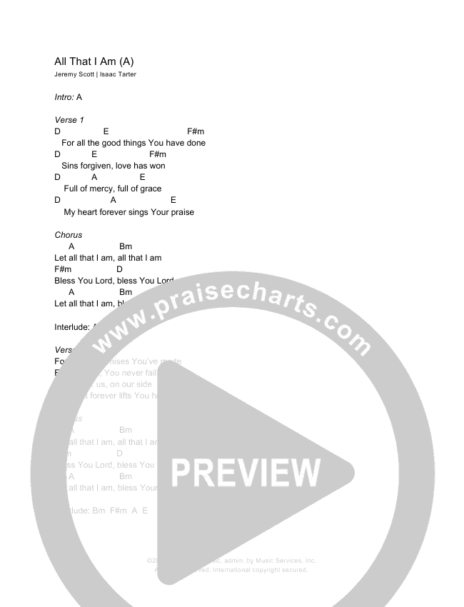 Goodness Of God Chords & Lyrics (Shane & Shane/The Worship Initiative)