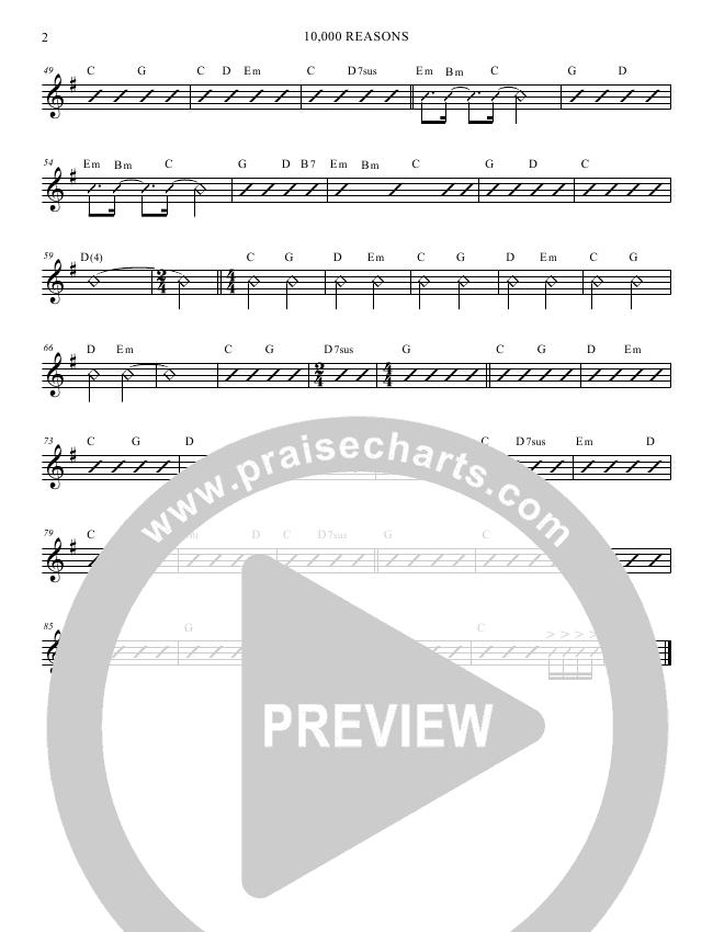 10000 Reasons (Bless The Lord) Rhythm Chart (Veritas)