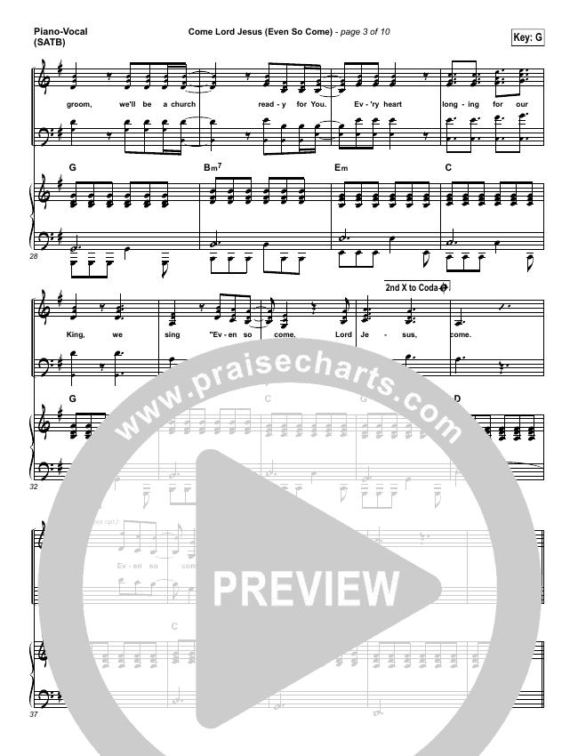 Even So Come Piano/Vocal (SATB) (Passion / Chris Tomlin)