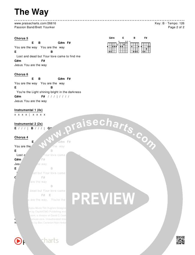 The Way Chords & Lyrics (Passion / Brett Younker)