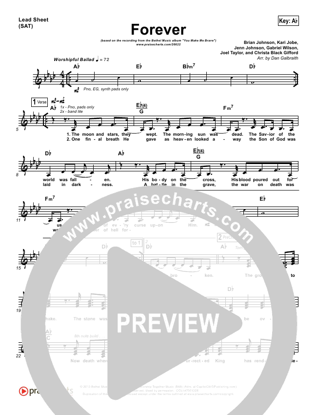 Forever Orchestration & Finale (Bethel Music)