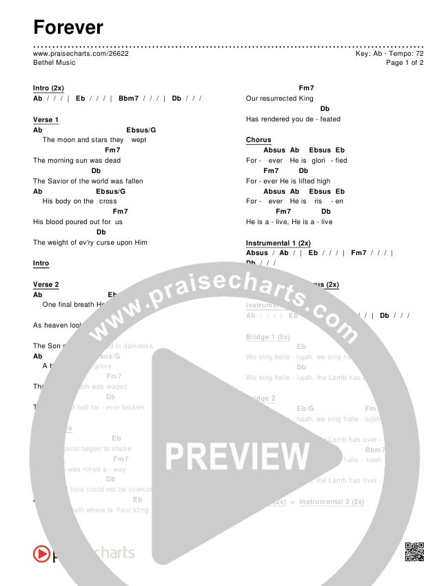 Forever Chords & Lyrics (Bethel Music)