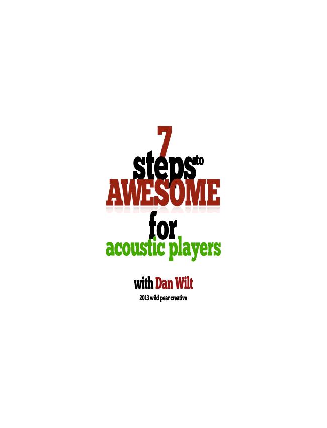 7 Steps To Awesome For Acoustic Players eBook (Dan Wilt / WorshipTraining)