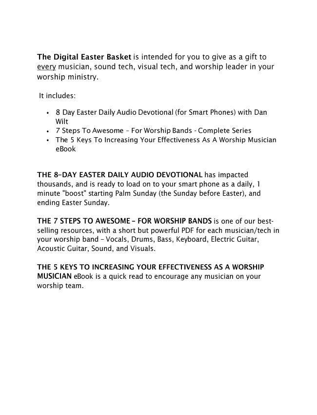 Your Digital Easter Basket eBook (Dan Wilt / WorshipTraining)