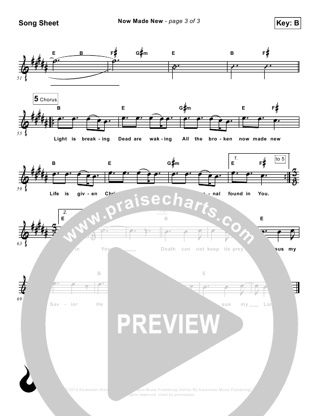 Now Made New Lead Sheet (Ascension Worship)