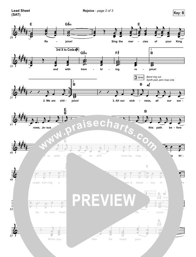 Rejoice Lead Sheet (SAT) (Dustin Kensrue)