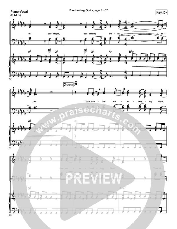 Everlasting God Piano/Vocal (SATB) (Chris Tomlin)
