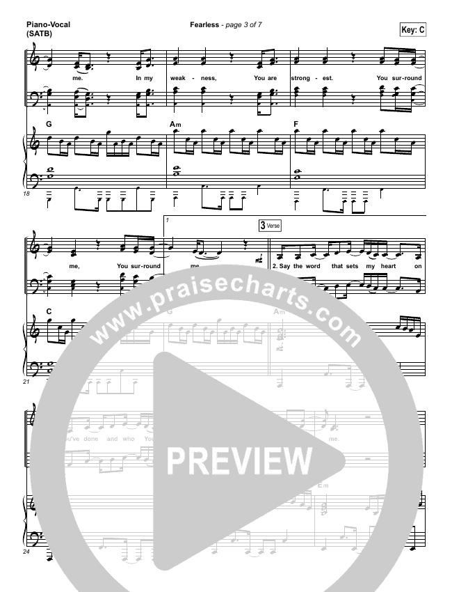 Fearless Piano/Vocal (SATB) (Mia Fieldes)