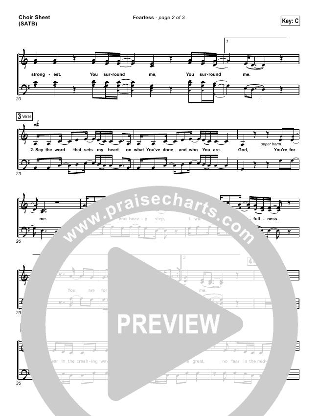 Fearless Choir Sheet (SATB) (Mia Fieldes)