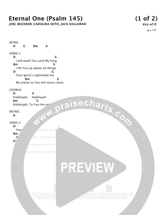 Eternal One Psalm 145 Chords Ncc Worship Praisecharts
