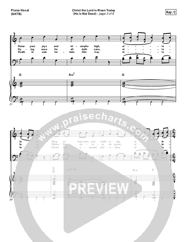 Christ The Lord Is Risen Today (He Is Not Dead) Piano/Vocal (SATB) (NCC Worship)
