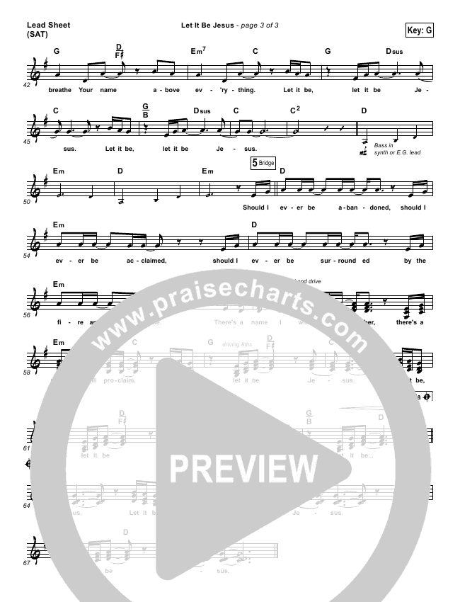 Let It Be Jesus Piano/Vocal Pack (Christy Nockels)
