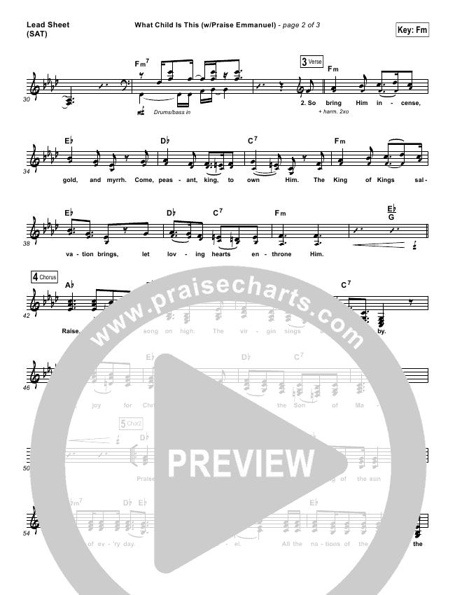 What Child Is This (Praise Emmanuel) Orchestration & Finale (Paul Baloche)