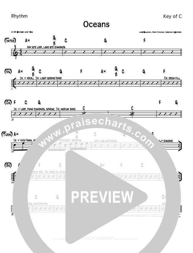 Oceans (Where Feet May Fail) Rhythm Chart (Adam Kersh / North Point Worship)