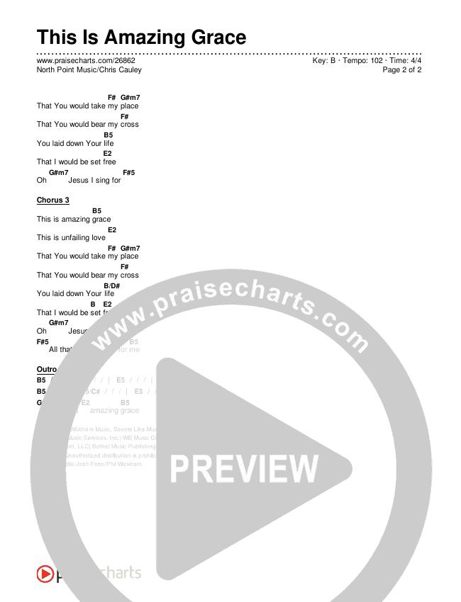 This Is Amazing Grace Chords & Lyrics (Chris Cauley / North Point Worship)