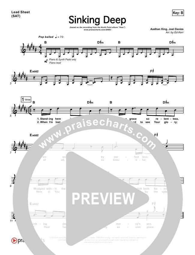 Sinking Deep Lead (SAT) (Adam Kersh / North Point Worship)