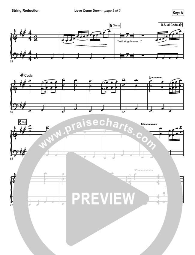 Love Come Down String Pack (Heath Balltzglier / North Point Worship)