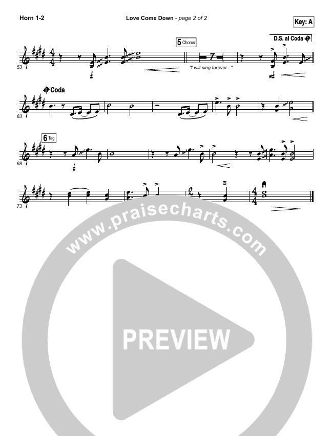 Love Come Down Brass Pack (Heath Balltzglier / North Point Worship)
