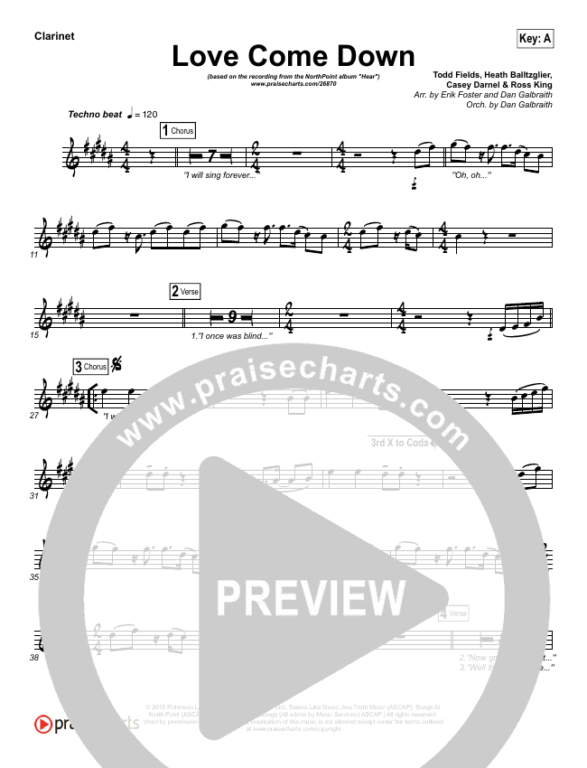Love Come Down Wind Pack (Heath Balltzglier / North Point Worship)