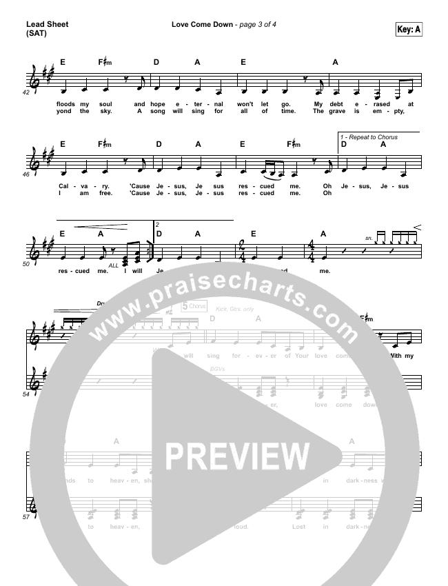 Love Come Down Piano/Vocal Pack (Heath Balltzglier / North Point Worship)