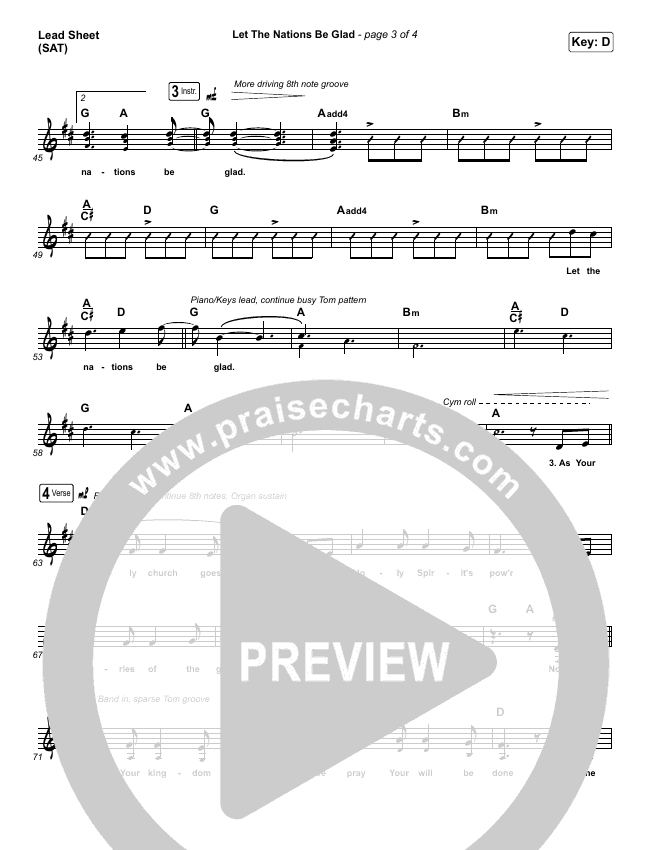Let The Nations Be Glad Piano/Vocal Pack (Matt Boswell)