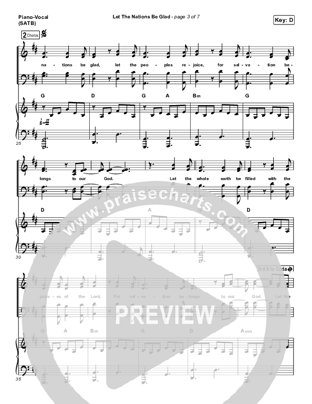 Let The Nations Be Glad Piano/Vocal (SATB) (Matt Boswell)