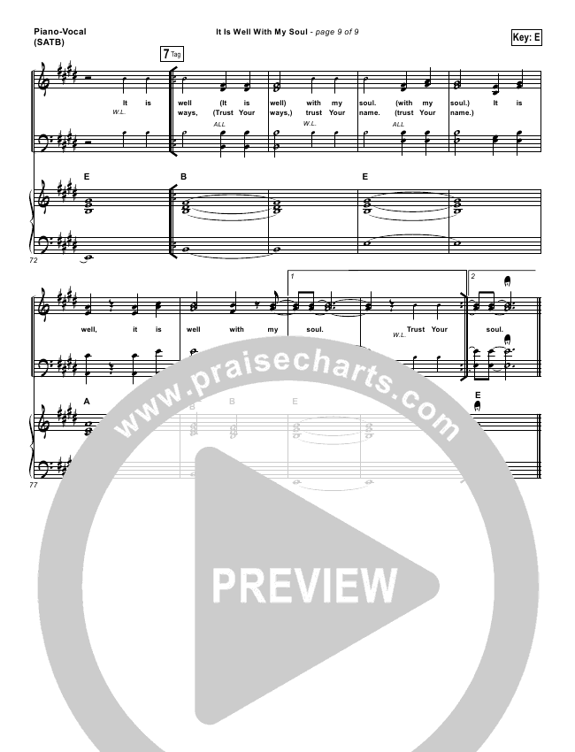 it is well with my soul piano sheet pdf
