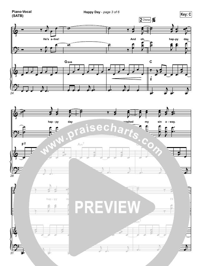 Happy Day Piano/Vocal (SATB) (Tim Hughes)