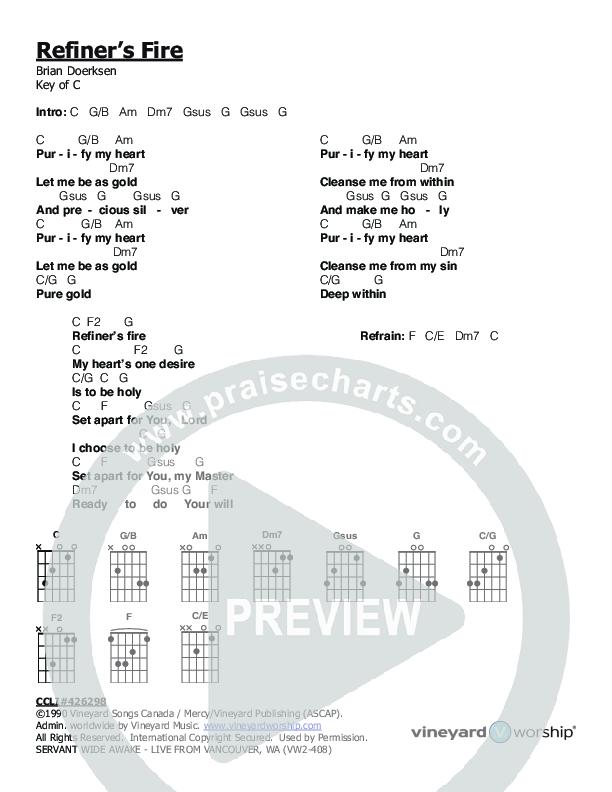 Refiner's Fire Chord Chart (Servant)