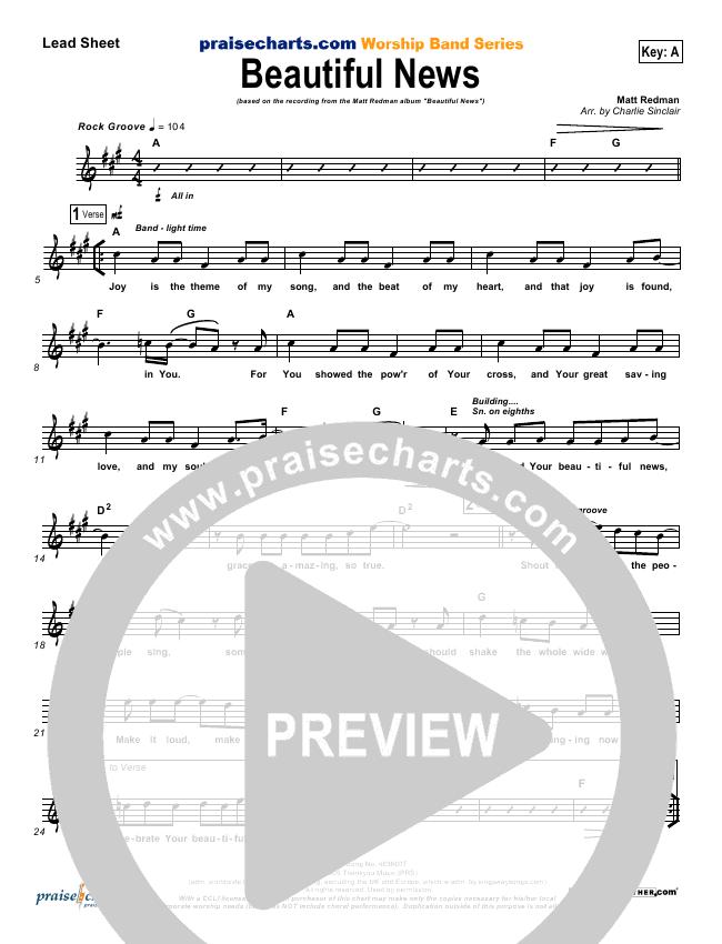 Beautiful News Lead & Piano (Matt Redman)