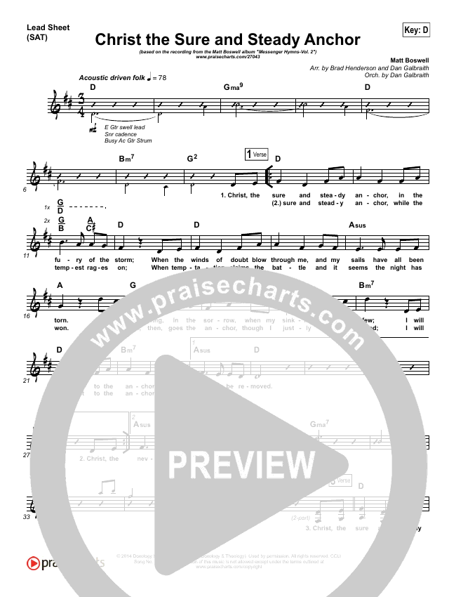 Christ The Sure And Steady Anchor Praise Band (Matt Boswell)