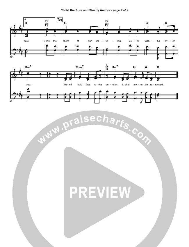 Christ The Sure And Steady Anchor Hymn Sheet (Matt Boswell)