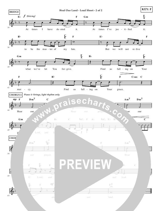 Heal Our Land Lead & Piano/Vocal (Wayne Watson)