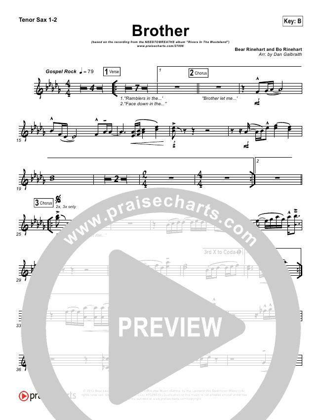 Brother Orchestration - Needtobreathe | PraiseCharts