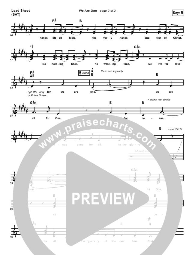 We Are One Lead (SAT) (City Harmonic)